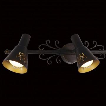 Потолочный светильник с регулировкой направления света Citilux Дункан CL529531, 3xE14x60W, коричневый с золотой патиной, металл - миниатюра 4