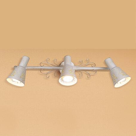 Потолочный светильник с регулировкой направления света Citilux Дункан CL529532, 3xE14x60W, белый с золотой патиной, металл