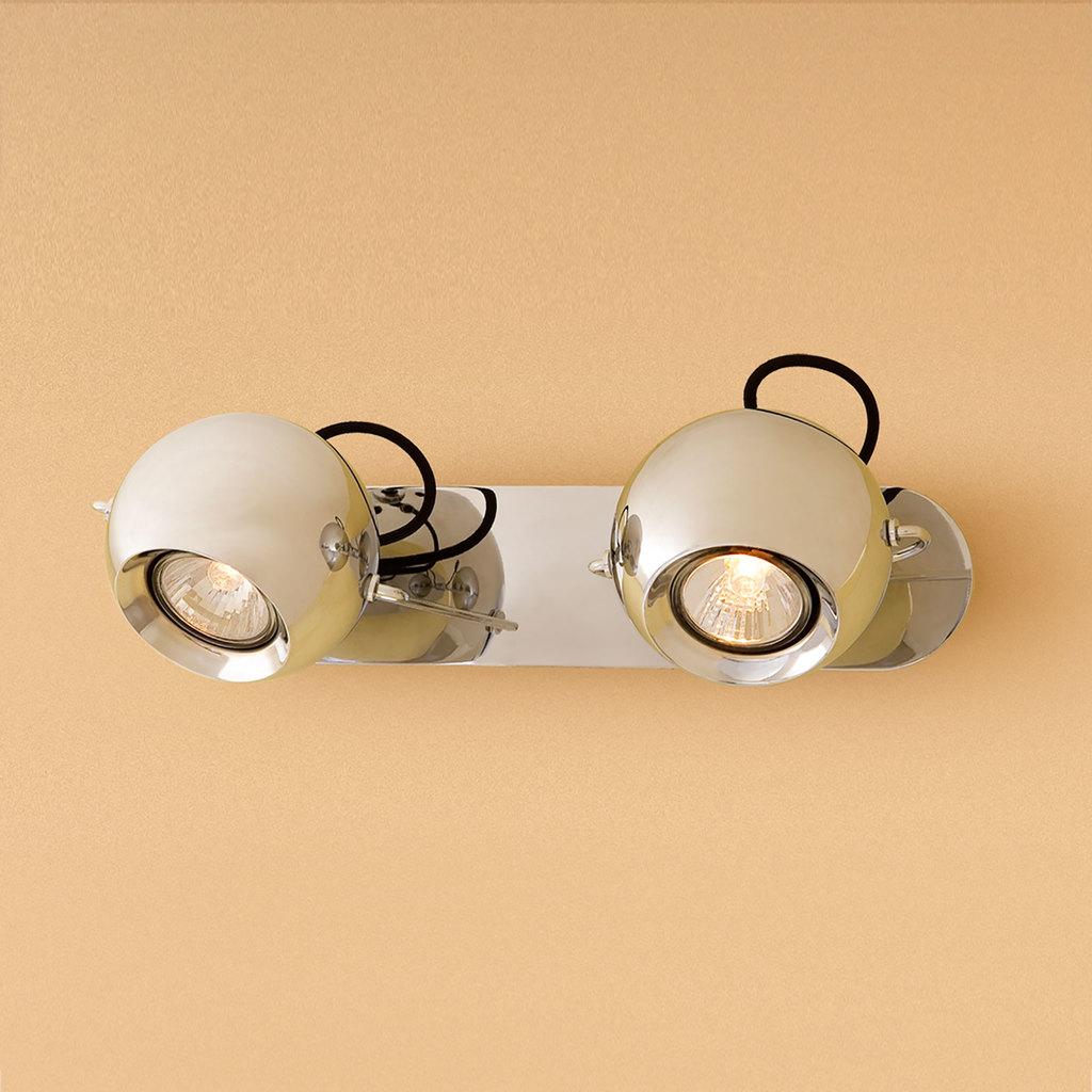 Потолочный светильник с регулировкой направления света Citilux Сфера CL532521, 2xGU10x50W, хром, металл - фото 1