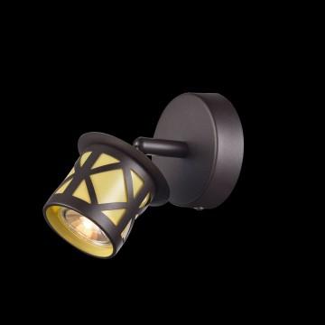 Настенный светильник с регулировкой направления света Citilux Гессен CL536511, 1xGU10x50W, венге, янтарь, металл, металл с пластиком - миниатюра 2