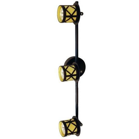 Потолочный светильник с регулировкой направления света Citilux Гессен CL536531, 3xGU10x50W, венге, янтарь, металл, металл с пластиком