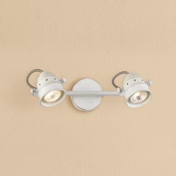 Потолочный светильник с регулировкой направления света Citilux Веймар CL537522, 2xGU10x50W, белый с золотой патиной, металл