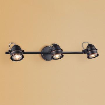 Потолочный светильник с регулировкой направления света Citilux Веймар CL537531, 3xGU10x50W, венге, металл