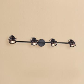 Потолочный светильник с регулировкой направления света Citilux Веймар CL537541, 4xGU10x50W, венге, медь, металл