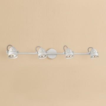 Потолочный светильник с регулировкой направления света Citilux Веймар CL537542, 4xGU10x50W, белый с золотой патиной, металл
