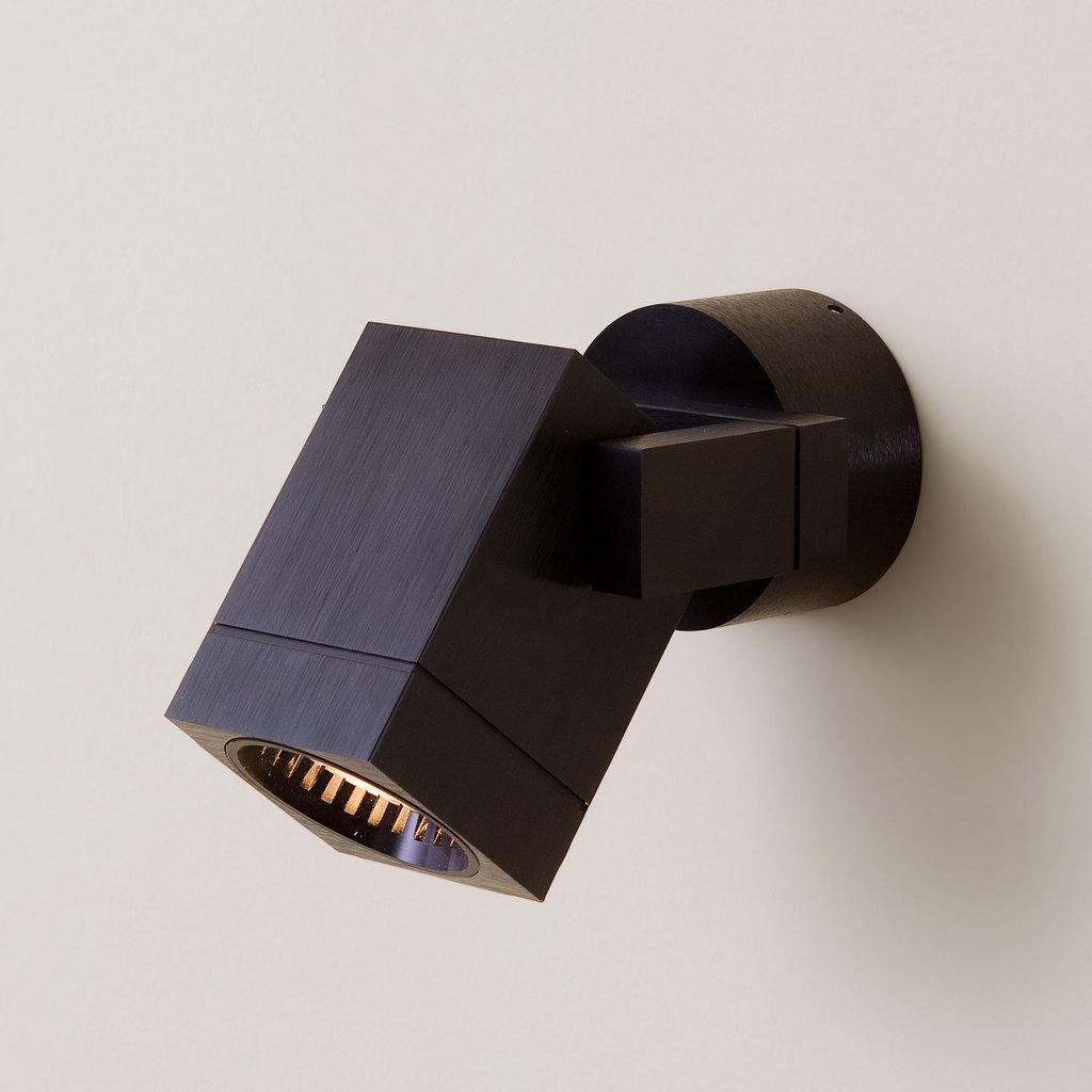 Настенный светильник с регулировкой направления света Citilux Дюрен CL538612, 1xGU10x50W, черный, металл - фото 1
