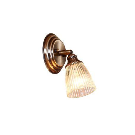 Настенный светильник с регулировкой направления света Citilux Виндзор CL539511, 1xE14x60W, бронза, белый, металл, стекло