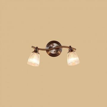 Настенный светильник с регулировкой направления света Citilux Виндзор CL539521, 2xE14x60W, бронза, белый, металл, стекло - миниатюра 2