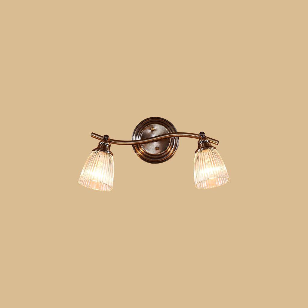 Настенный светильник с регулировкой направления света Citilux Виндзор CL539521, 2xE14x60W, бронза, белый, металл, стекло - фото 2