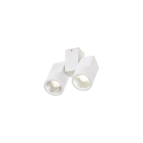Потолочный светодиодный светильник с регулировкой направления света Citilux Дубль CL556100, 3000K (теплый), белый, металл
