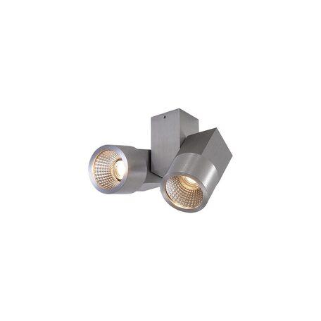 Потолочный светодиодный светильник с регулировкой направления света Citilux Дубль CL556101, LED 10W 3000K 750lm, алюминий, металл