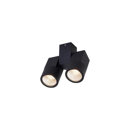 Потолочный светодиодный светильник с регулировкой направления света Citilux Дубль CL556102, 3000K (теплый), черный, металл