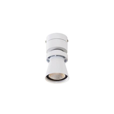 Потолочный светодиодный светильник с регулировкой направления света Citilux Дубль-1 CL556510, LED 7W 3000K 560lm, белый, металл
