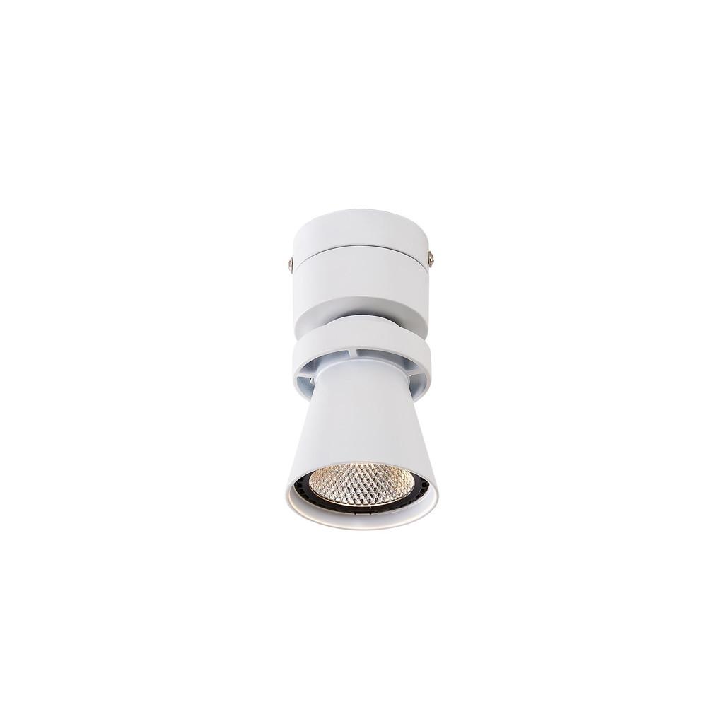 Потолочный светодиодный светильник с регулировкой направления света Citilux Дубль-1 CL556510, LED 7W 3000K 560lm, белый, металл - фото 1