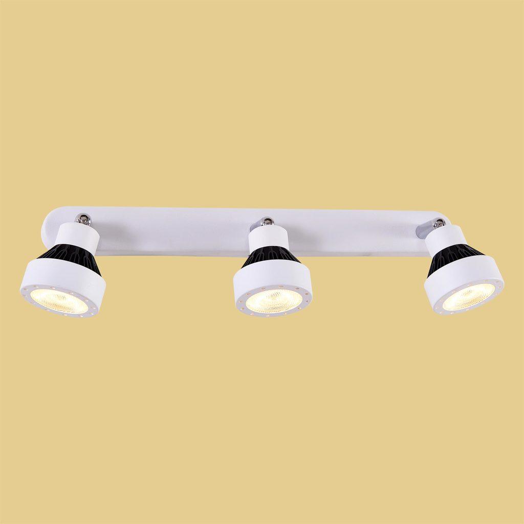 Настенный светодиодный светильник с регулировкой направления света Citilux Данди CL557531, LED 21W 3000K 1575lm, белый, хром, черный, металл - фото 2