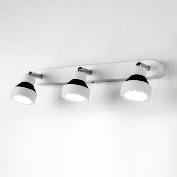Настенный светодиодный светильник с регулировкой направления света Citilux Данди CL557531, LED 21W 3000K 1575lm, белый, хром, черный, металл - миниатюра 4