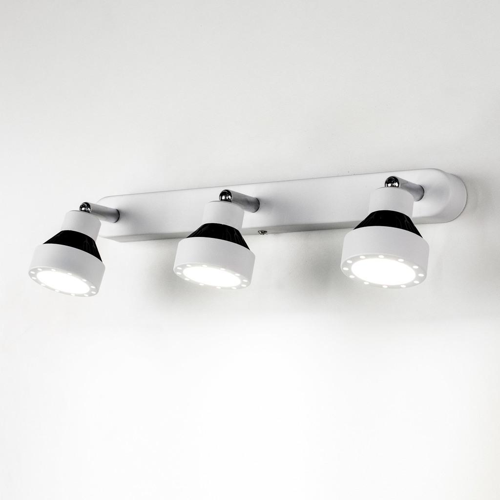 Настенный светодиодный светильник с регулировкой направления света Citilux Данди CL557531, LED 21W 3000K 1575lm, белый, хром, черный, металл - фото 4