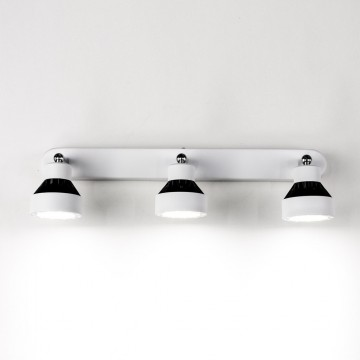 Настенный светодиодный светильник с регулировкой направления света Citilux Данди CL557531, LED 21W 3000K 1575lm, белый, хром, черный, металл - миниатюра 5