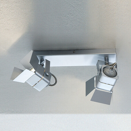 Потолочный светильник с регулировкой направления света Citilux Рубик CL526521S, 2xGU10x50W, серебро, металл