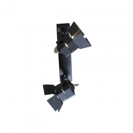 Потолочный светильник с регулировкой направления света Citilux Рубик CL526522S, 2xGU10x50W, черный, металл