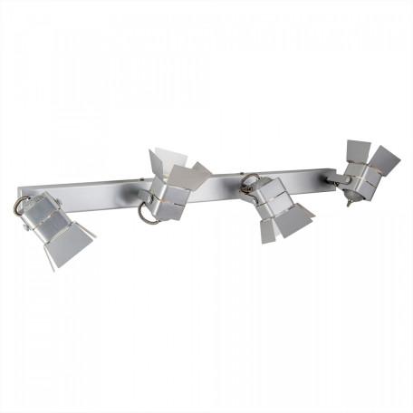 Потолочный светильник с регулировкой направления света Citilux Рубик CL526541S, 4xGU10x50W, серебро, металл