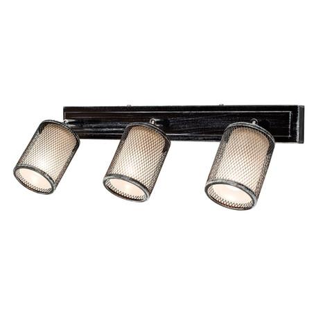 Потолочный светильник с регулировкой направления света Citilux Робин CL535531, 3xE14x60W, черный с серебряной патиной, черно-белый, металл, металл со стеклом