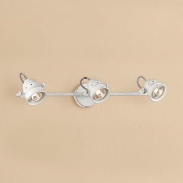 Потолочный светильник с регулировкой направления света Citilux Веймар CL537532, 3xGU10x50W, белый с золотой патиной, металл