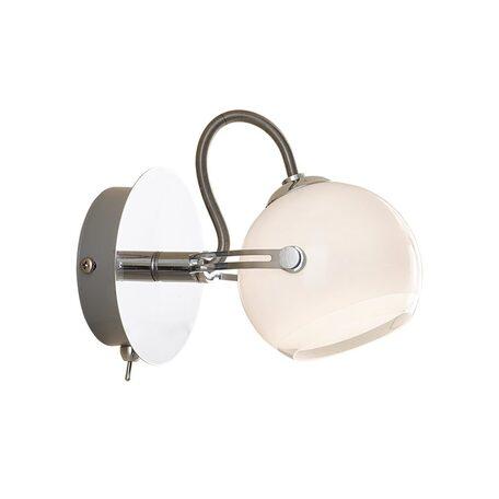 Светильник Citilux Бланка CL531511, 1xG9x40W, хром, белый, металл, стекло