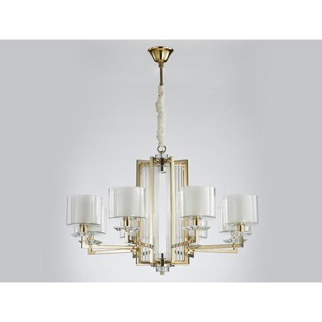 Светильник Newport 4400 4408+1/C gold (М0062632), 8xE14x60W + LED 10W