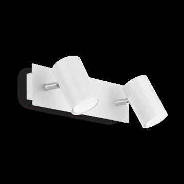 Потолочный светильник с регулировкой направления света Ideal Lux SPOT AP2 BIANCO 156736, 2xGU10x50W, белый, металл