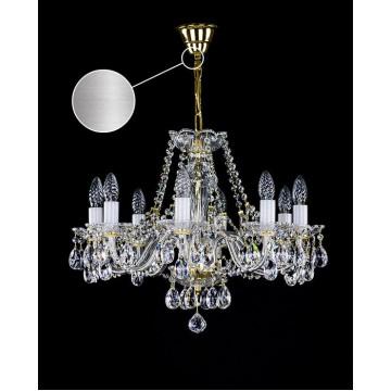 Подвесная люстра Artglass CASSIDY VIII. NICKEL CE, 8xE14x40W, стекло, хрусталь Artglass Crystal Exclusive