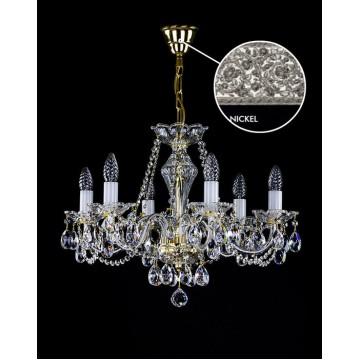 Подвесная люстра Artglass CASSIDY VI. NICKEL SP, 6xE14x40W, кристаллы SPECTRA Swarovski
