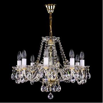 Подвесная люстра Artglass CASSIDY VIII., 8xE14x40W, стекло