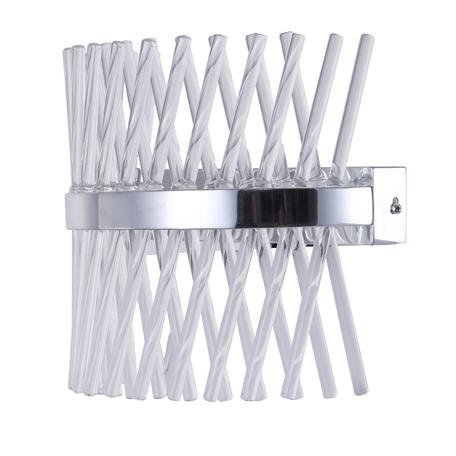 Светодиодное бра MW-Light Аделард 642023801, LED 15W 4000K 1800lm, хром, прозрачный, металл, стекло