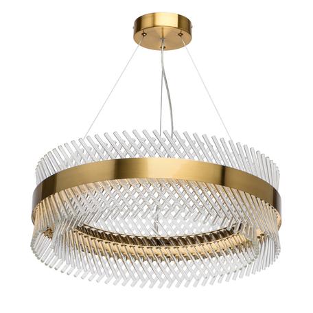 Подвесная светодиодная люстра MW-Light Аделард 642014001, LED 52W, 4000K (дневной), золото, прозрачный, металл, металл со стеклом/хрусталем