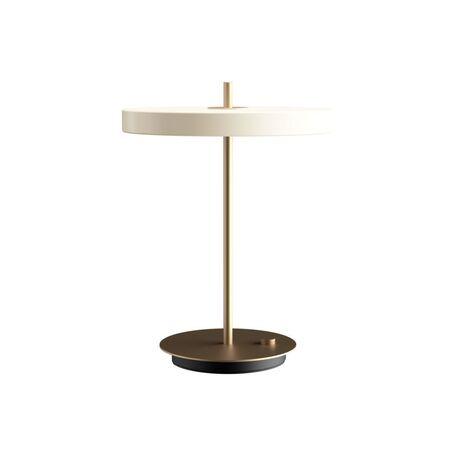 Настольная светодиодная лампа Umage Asteria Table 2305, LED 13W, 3000K (теплый), матовое золото, черный, белый, металл, пластик