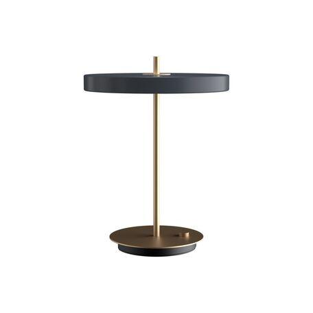 Настольная светодиодная лампа Umage Asteria Table 2306, LED 13W, 3000K (теплый), матовое золото, черный, серый, металл, пластик