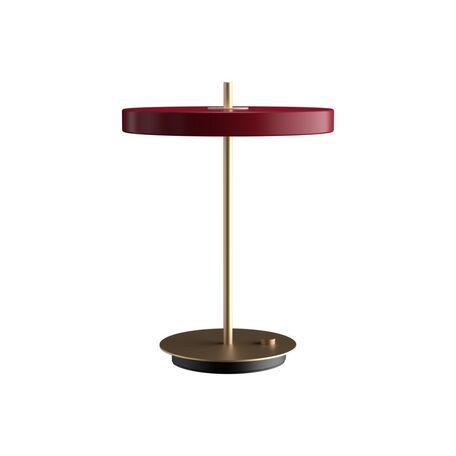 Настольная светодиодная лампа Umage Asteria Table 2309, LED 13W 3000K 600lm, матовое золото, красный, металл