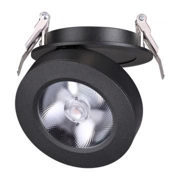 Встраиваемый светодиодный светильник с регулировкой направления света Novotech Groda 357983 3000K (теплый), черный, металл