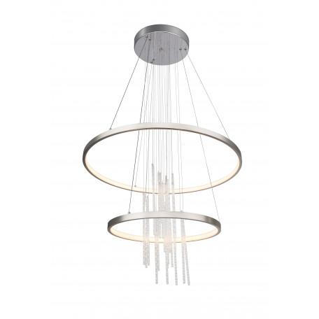 Подвесной светодиодный светильник с пультом ДУ Globo Titus 67092-50H, LED 50W 3000-6000K 2000lm, прозрачный, металл, пластик, хрусталь