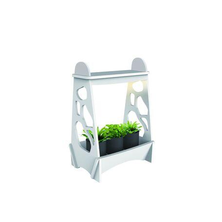 Светодиодный светильник для растений с полкой Globo Dillane 93103, IP54, LED 14W, 4000K (дневной), пластик