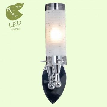 Бра Lussole LGO Leinell GRLSP-9552, IP21, 1xE14x6W, хром, белый, металл, стекло