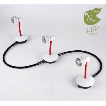 Модульная система Lussole Loft Bay Shore GRLSP-9818-03, IP21, 3xGU10x5,5W, белый, красный, металл