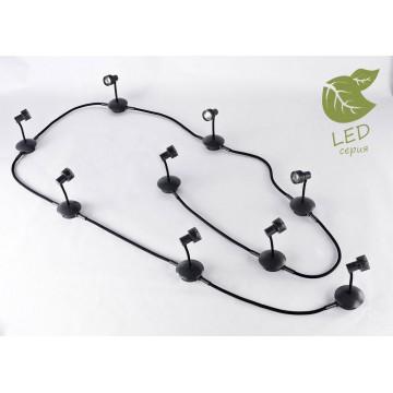 Модульная система Lussole Loft Bay Shore GRLSP-9821-09, IP21, 9xGU10x5,5W, черный, металл, пластик