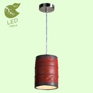 Подвесной светильник Lussole Loft Northport GRLSP-9527, IP21, 1xE27x10W, никель, красный, металл, керамика