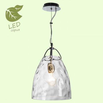 Подвесной светильник Lussole Loft Smithtown GRLSP-9629, IP21, 1xE27x10W, хром, прозрачный, металл, стекло