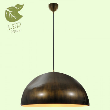 Подвесной светильник Lussole Loft Saratoga GRLSP-9653, IP21, 1xE27x10W, бронза, металл