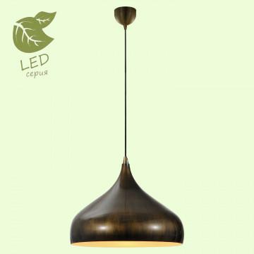 Подвесной светильник Lussole Loft Saratoga GRLSP-9655, IP21, 1xE27x10W, бронза, металл