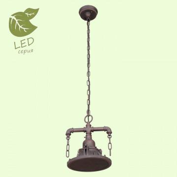 Подвесной светильник Lussole Loft Troy GRLSP-9678, IP21, 1xE27x10W, коричневый, металл