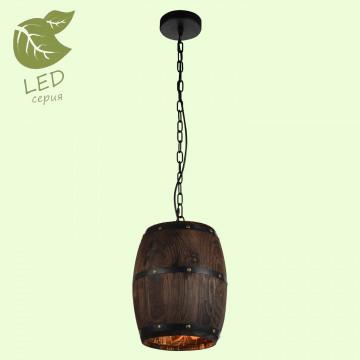 Подвесной светильник Lussole Loft Holtsville GRLSP-9844, IP21, 1xE27x10W, коричневый, металл, дерево
